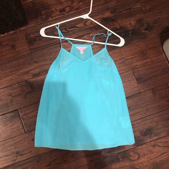Lilly Pulitzer Tops - Blue Lilly Pulitzer tank XS